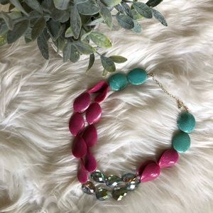 Chunky Necklace - Pink and Green